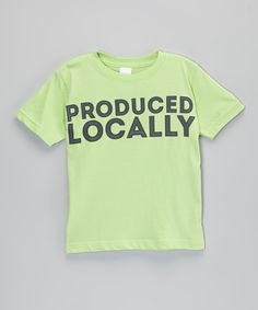 Green 'Produced Locally' Green Tee - Infant & Toddler | zulily