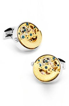 Free shipping and returns on Cufflinks, Inc. Watch Movement Cuff Links at Nordstrom.com. Rich goldtone gears add a warm glow to eye-catching cuff links with exceptional style.