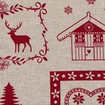Stof Denmark Chalet Des Alpes Ornament Tan - LINEN [ST-15-218] - $19.95 : Pink Chalk Fabrics is your online source for modern quilting cottons and sewing patterns., Cloth, Pattern + Tool for Modern Sewists
