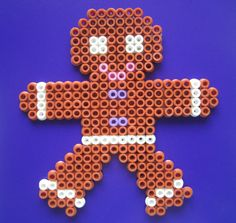 Gingerbread man perler beads by little_Pink_Bunny