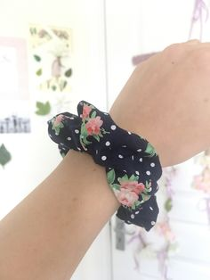 Handmade pattered scrunchies by isabellesbyIsabelle Scrunchies, Heeled Mules, Etsy Seller, Trending Outfits, Floral, Cotton, Handmade, Fashion, Moda
