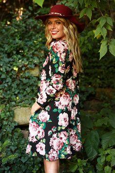 941a8eb4ba The Emma Long Sleeve Shift Dress in Aspen Floral Perfect Little Black  Dress