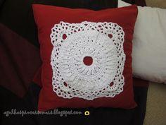 Agulhas e Pinceis: Aplicação de crochê para almofada