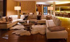 De Sede white leather sofa and bespoke coffee table with bio fire at Chalet Zermatt Peak 3d Wallpaper Design, Designer Wallpaper, Bespoke Furniture, Furniture Design, White Leather Sofas, Zermatt, Couch, Interior Design, Luxury