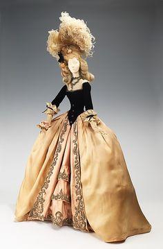 "Jean Dessès (French (born Egypt), 1904–1970). ""1774 Doll,"" 1949. The Metropolitan Museum of Art, New York. Brooklyn Museum Costume Collection at The Metropolitan Museum of Art, Gift of the Brooklyn Museum, 2009; Gift of Syndicat de la Couture de Paris, 1949 (2009.300.701a–c). #costume #halloween"