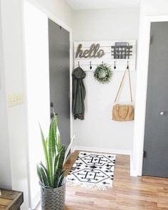 Farmhouse inspired entryway #diy #target #farmhouse