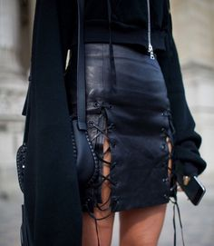 Imagem de fashion, black, and leather