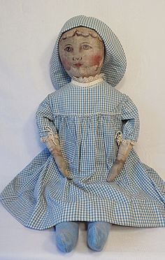 Rare Columbian Cloth Rag Doll by Emma Adams -1891-1900