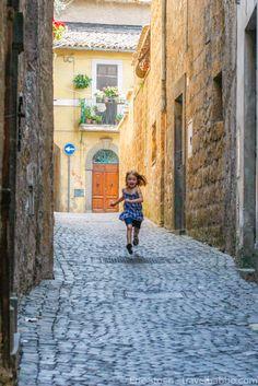 Running through Orvieto, Italy, on a day trip from Cortona.