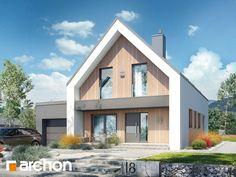 Dom w papawerach 2 Modern Barn House, Modern Cottage, Modern House Design, Scandinavian Architecture, Scandinavian Home, House Designs Ireland, Narrow Lot House Plans, Self Build Houses, Beautiful House Plans