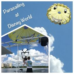 Parasailing is offered in the Magic Kingdom resort area through Sammy Duvall's Watersports Center located at Disney's Contemporary Resort / Disney World.