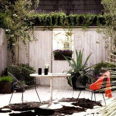 Sichtschutzaun Weiß Holz Gartenmöbel