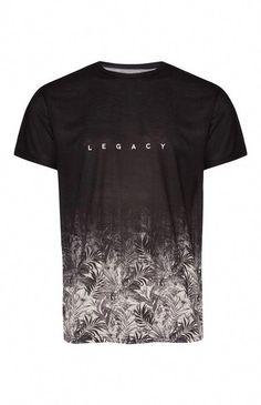 Black legacy print t-shirt tshirt in 2019 pakaian pria, paka Shirt Print Design, Tee Shirt Designs, T Shirt Print, Primark Tshirts, Just Rhyse, Funny Shirts, Tee Shirts, Tees, Geile T-shirts