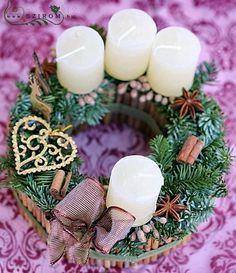 adventi koszorú (20cm) Advent, Wreaths, Table Decorations, Winter, Creative, Christmas, Winter Time, Navidad, Weihnachten