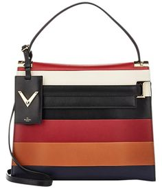 3ddbaf788d Valentino My Rockstud Leather Clutch Ivory, Black, Red And Cognac Satchel.  Save 45