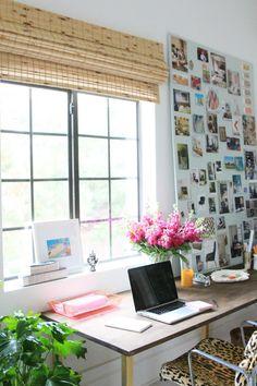 Little green notebook studio Desk Nook, Office Nook, Home Office Space, Office Decor, Desk Space, Decoration Inspiration, Room Inspiration, Workspace Inspiration, Little Green Notebook