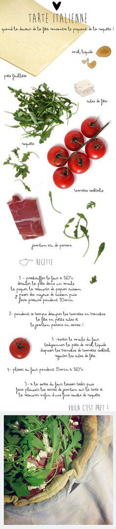 Fiche Recette ** Tarte Italienne // #recette #tartesalee #cook #cuisine www.kutchetcouture.com