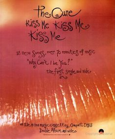 "The Cure, ""Kiss Me, Kiss Me, Kiss Me"" [1987]. 63 awesome posters for some of my favorite albums. Can I have a room full of these?^Jitin"