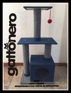 rascadores gatto nero desarmables - cat tree - trepador - Macey Home Cat Gym, Diy Cat Tree, Cat Stands, Diy Toy Storage, Cat Towers, Cat Scratcher, Cat Condo, Cat Supplies, Cat Furniture