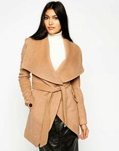 Oversized Camel colored coat.