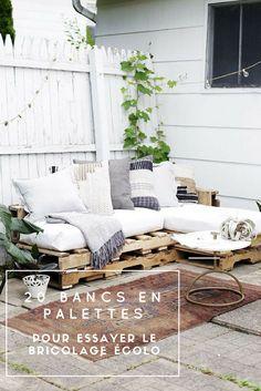 Idées de bricolage écolo en 20 exemples magnifiques de bancs en palettes de bois