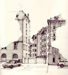 Interesting Find A Career In Architecture Ideas. Admirable Find A Career In Architecture Ideas. Architecture Sketchbook, Art Sketchbook, Art And Architecture, Sketch Painting, Drawing Sketches, Art Drawings, Pen Sketch, Drawing Ideas, Urban Sketchers