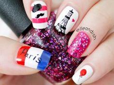 Uñas decoradas al estilo Parisino super facil