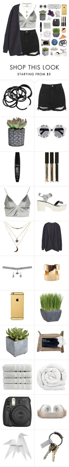 """""""DON'T KNOW HOW TO LOVE ME WHEN YOU'RE SOBER"""" by soundlxss ❤ liked on Polyvore featuring H&M, Topshop, House of Holland, Rimmel, Miss Selfridge, T By Alexander Wang, River Island, Charlotte Russe, MANGO and Wet Seal"""