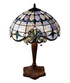 Another great find on #zulily! 25'' Blue Allistar Stained Glass Table Lamp #zulilyfinds