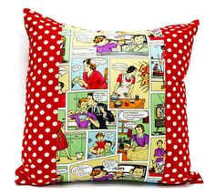 Gift Comic Throw Pillow cover  18x18inch Decorative by LilachOren, $25.00