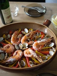 """Yammy♪ Paella☆ served on oven-dish☆"" - japanese recipe/オーブン皿で☆旨味たっぷり♪パエリア☆"
