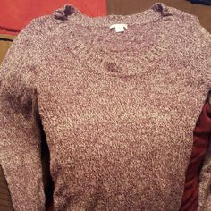 Cute purple sweater Very nice comfortable sweater. Very little pulling. Plenty of life left. Sweaters Crew & Scoop Necks