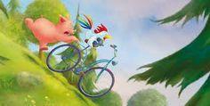 Helme Heine Toot & Puddle, Heine, Cute Pigs, Art Drawings, Watercolors, Cartoons, Comics, Illustrations, Drawings