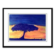 Katinas Treescape Large Framed Print