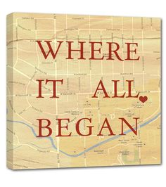 'Where it all began' - a sweet keepsake reminder of where your love story started!