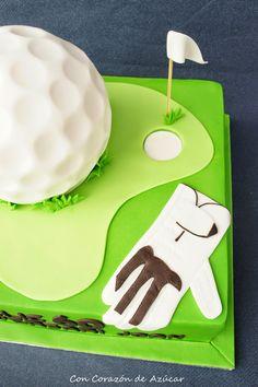 Tarta Golf con Bizcocho de Chocolate Blanco {Paso a paso montaje y forrado tartas esféricas}