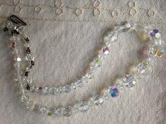 Vintage Clear Crystal Necklace Choker Crystal by DuckCedar on Etsy