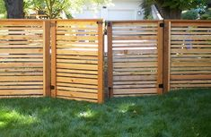 Modern Fence, Modern Gate  Gates and Fencing  Paradise Restored Landscaping  Portland, OR