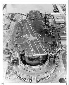 USS Constellation in Long Beach 1979.