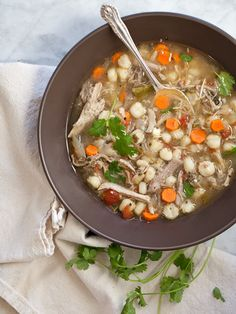 Slow Cooker Pork Posole from foodiecrush.com