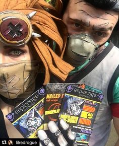 """""""Who needs a real doctor when you got Borderlands nail wraps?!"""" Dr. Zed and Gaige approve of these Espionage nail wraps!!! #Borderlands #BorderlandsCosplay #Gaige #DrZed #NerdManicure"""