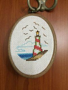 Deniz feneri- Lighthouse Cross stitch
