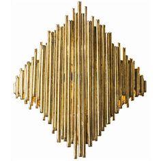 Gold Leaf Cuff Wall Sconce