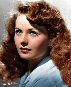 Golden Age of Hollywood Movie Star: Jeanne Crain Hollywood Stars, Golden Age Of Hollywood, Vintage Hollywood, Hollywood Glamour, Hollywood Actresses, Classic Hollywood, Hollywood Usa, Beautiful Red Hair, Beautiful Redhead