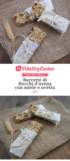 Barrette di fiocchi d'avena con miele e uvetta Veggie Recipes, Sweet Recipes, Cake Recipes, Veggie Food, Food And Drink, Sweets, Cannoli, Gaia, Macarons