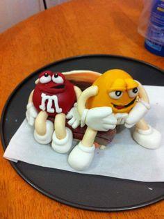 M&M cake My own design yey!! :-)