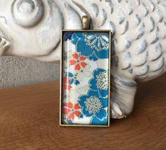Japanese Cherry Blossom Large Pendant Necklace  by PolishTheStone