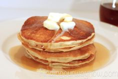 I love these Homemade Buttermilk Pancakes: #Recipe - Finding Our Way Now