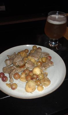 """""""First @FreshDirect recipe creation. Pork tenderloin with rosemary, parsnips, and grapes."""""""