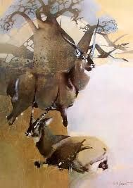 art of keith joubert more anim Wildlife Paintings, Wildlife Art, Animal Paintings, Animal Drawings, Drawing Animals, Africa Symbol, South African Artists, African Animals, Acrylic Art